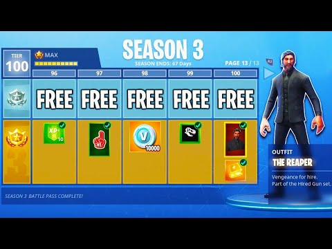 how to get free season 3 max battle pass tier 100 fortnite battle royale new fortnite update - 3 tiere fortnite