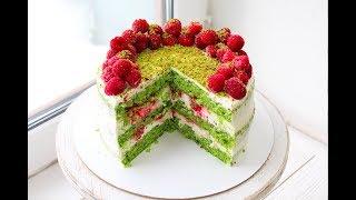 ИЗУМРУДНЫЙ ТОРТ из ШПИНАТА  /  SPINACH CAKE