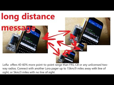 LoRa SX1278 Long-distance Chat Sms Pager Project.