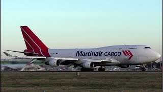 Martinair Cargo Boeing 747-400F Departure at London Stansted Airport