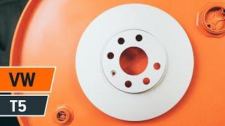 Sådan udskifter du bremseskiver foran og bremseklodser på VOLKSWAGEN T5 GUIDE | AUTODOC