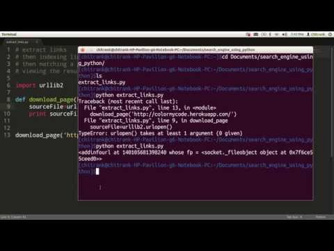 01 Building Search Engine using Python downloading and extracting links | by Chitrank Dixit