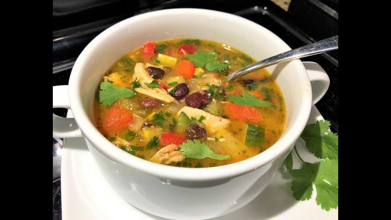 Куриный Суп  с Овощами без картофеля. Густой, сытный. Здоровое Питание.