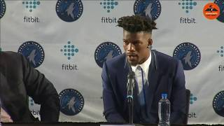 Wolves introduce three-time NBA All-Star Jimmy Butler