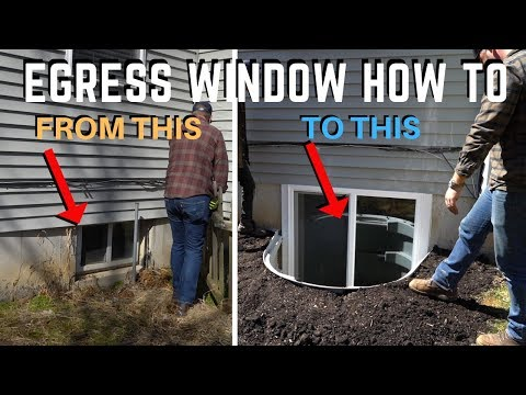 Egress Basement Window Installation |  How To | DIY Home Improvement
