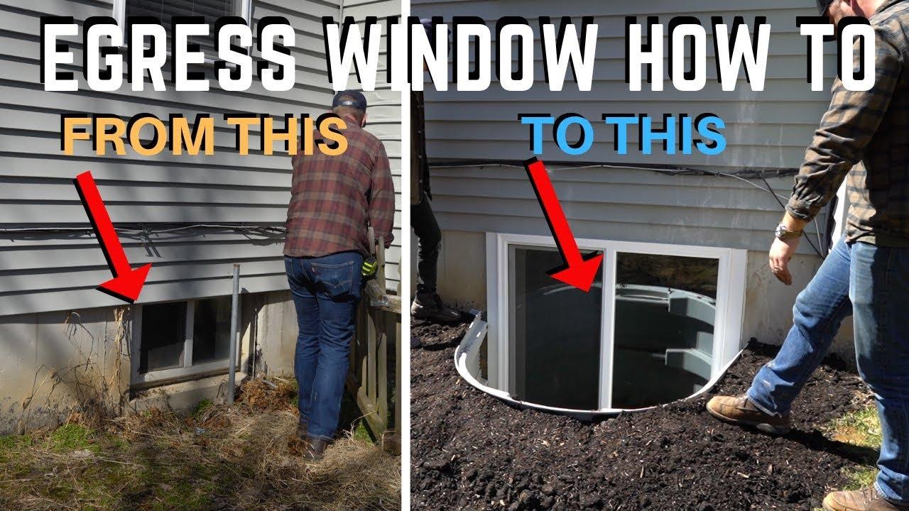 Egress Basement Window Installation How To Diy Home Improvement