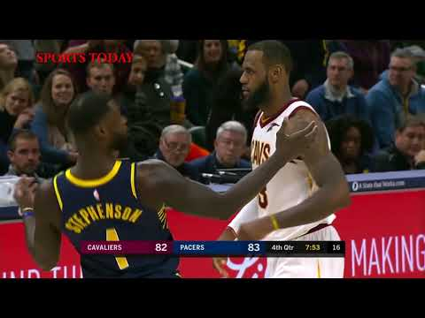 LeBron James Fights With Lance Stephenson And Gets Angry With Refs - Cavs vs Pacers | NBA 2018