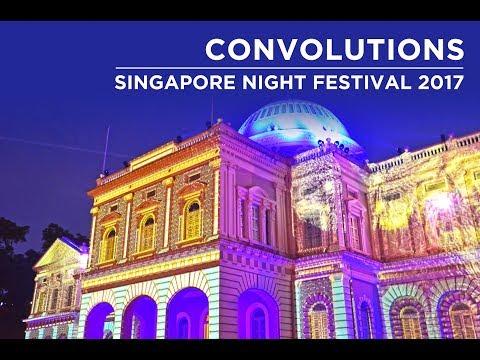 Singapore Night Festival 2017 - National Museum of Singapore Light Show.