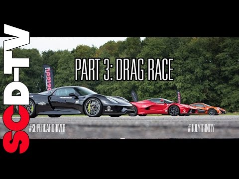 DRAG RACE LaFerrari v P1 v 918 Spyder | 0-186 mph [Part 3/3]