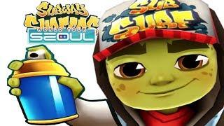 iGameBox🤩Subway Surfers SEOUL HD Fullscreen Zombie Jake Gameplay For Kid#7