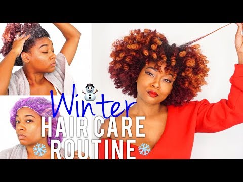 Winter Natural Hair Routine | Dry Hair Wash Day: Pre Poo + Shampoo + Deep Condition | African Pride