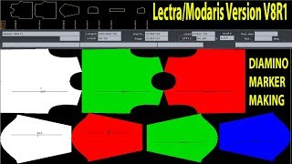 Lectra Variant Tutorial   Marker Tutorial by Lectra Modaris   Lectra variant System   CAD Tutorial