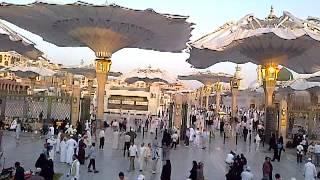 Opening of Big Umbrellas at Masjid Nabawi (Prophet's Mosque), Madinah