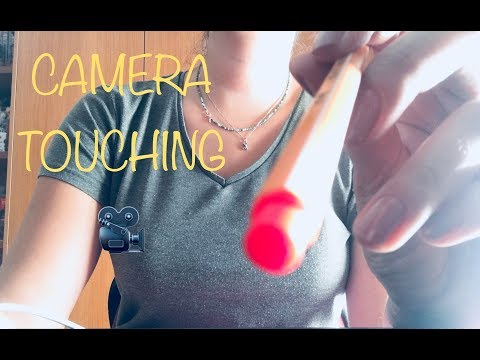 ASMR Camera Touching using a Pen, a Pencil & a Brush *So Tingly*