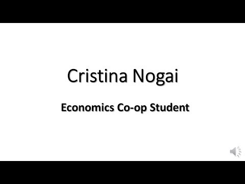 Cristina Nogai - Economics Co-op Student