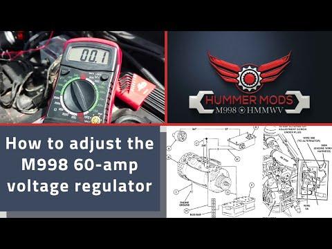 M998 HMMWV AlternatorGenerator Adjustment on a 60 amp unit 285v proper Battery maintenance