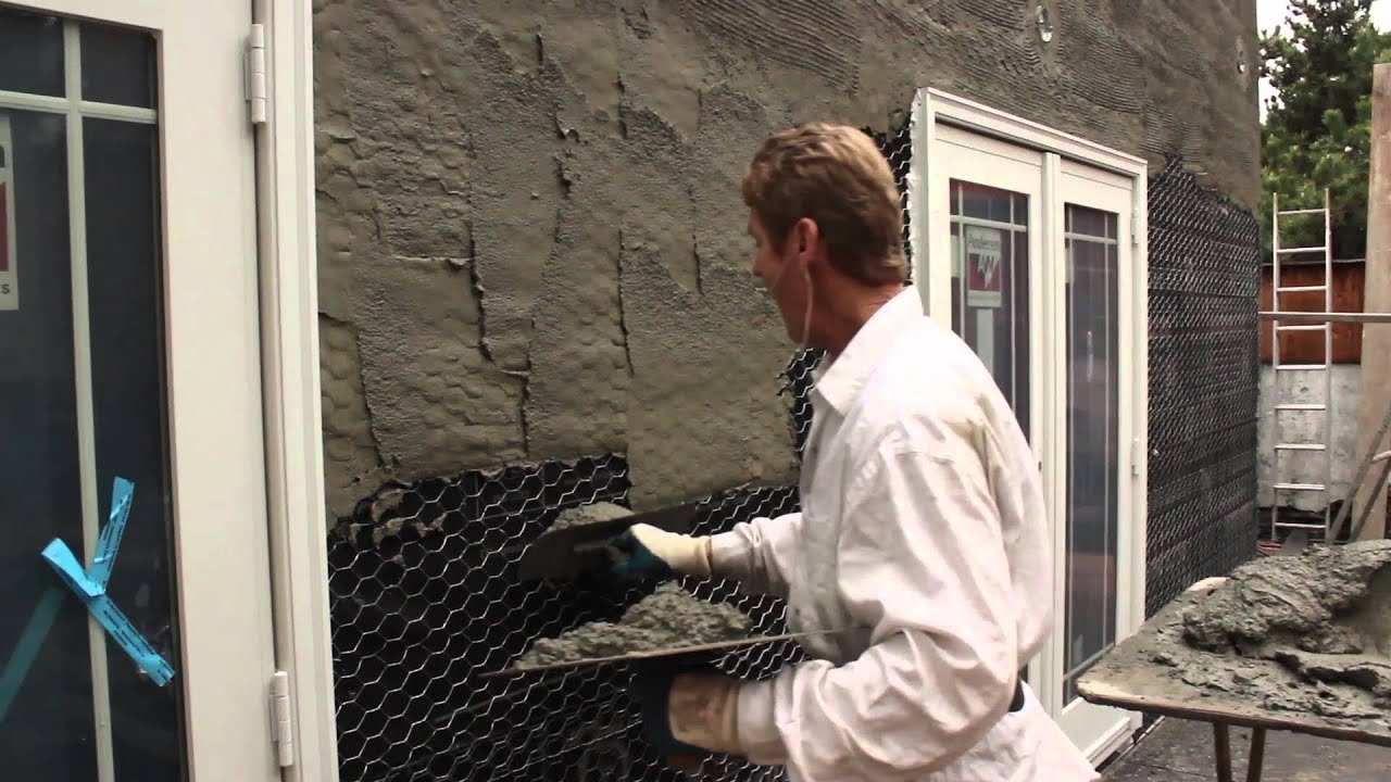 Stucco render scratch coat thickness, easy way to judge render ...