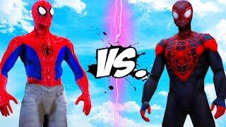 SPIDER-MAN VS MILES MORALES - INTO THE SPIDER-VERSE