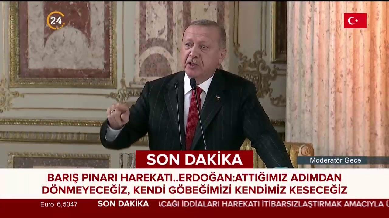 Erdoğan'dan #BarışPınarı mesajı: PYD/YPG'ye karşı attığımız bu adımı durdurmayacağız