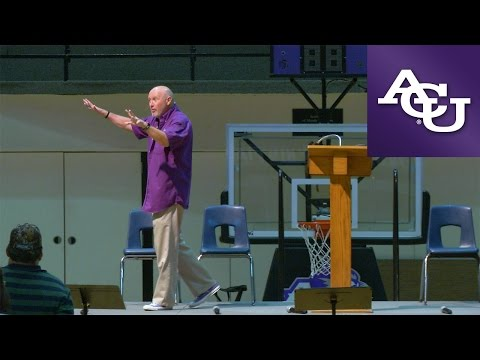 ACU Chapel with Randy Harris; August 30, 2016