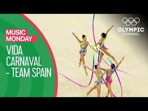 Vida Carnaval! Spain's Rhythmic Gymnastics' team performs to Carlinhos Brown   Music Monday