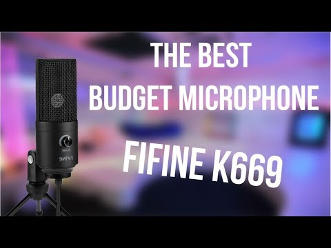 THE BEST budget microphone | FiFine K669 [ENG]