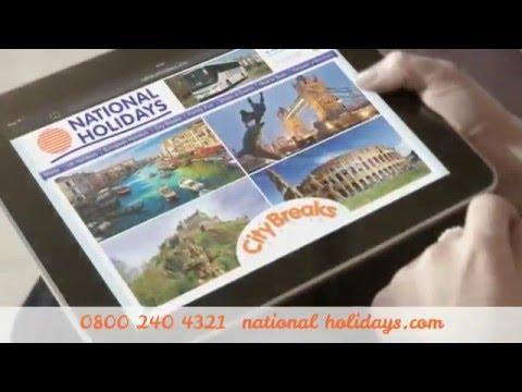 National Holidays 2016 - 30 Second UK & Europe Advert
