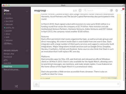slack bug with wiki article