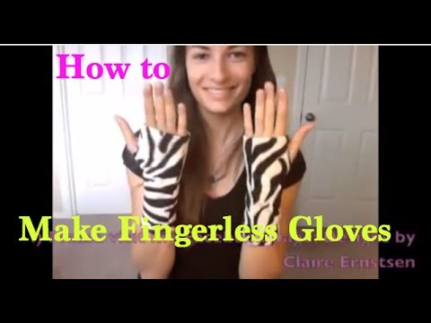 How to Make Stylish and Cozy Fingerless Gloves - Cosplay Sewing DIY tutorial