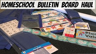 Homeschool Bulletin Board & Learning Center Haul!!!