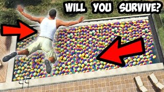CAN YOU SURVIVE A FALL ON 1000+ BALLS IN GTA 5?