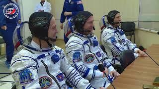 Видеорепортаж о стартовом дне экипажа ТПК «Союз МС-08»