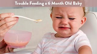 Trouble Feeding a 6 month old Baby | Cloudmom