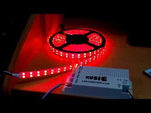 RGB led music controller IR remote control (Часть 2)