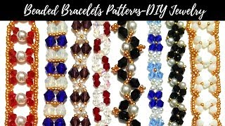 Beading patterns for DIY jewelry. Beaded Bracelets(see links in the description)