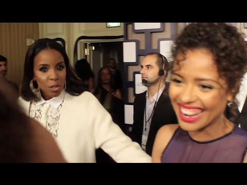 Kelly Rowland Interrupts  to Speak to Gugu MbathaRaw