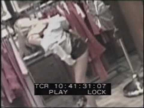 girl caught on security cam