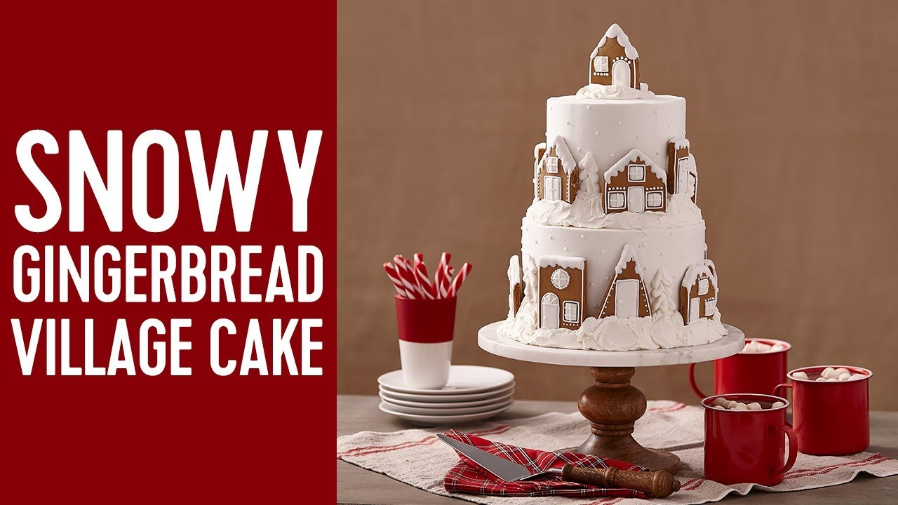 christmas cake ideas how to make a gingerbread snowy cake 2929