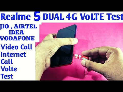 Realme 5 Dual Volte Test | How To Insert SIM Cards SD Card In Realme 5