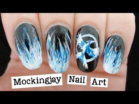 Mockingjay Nail Art | The Hunger Games