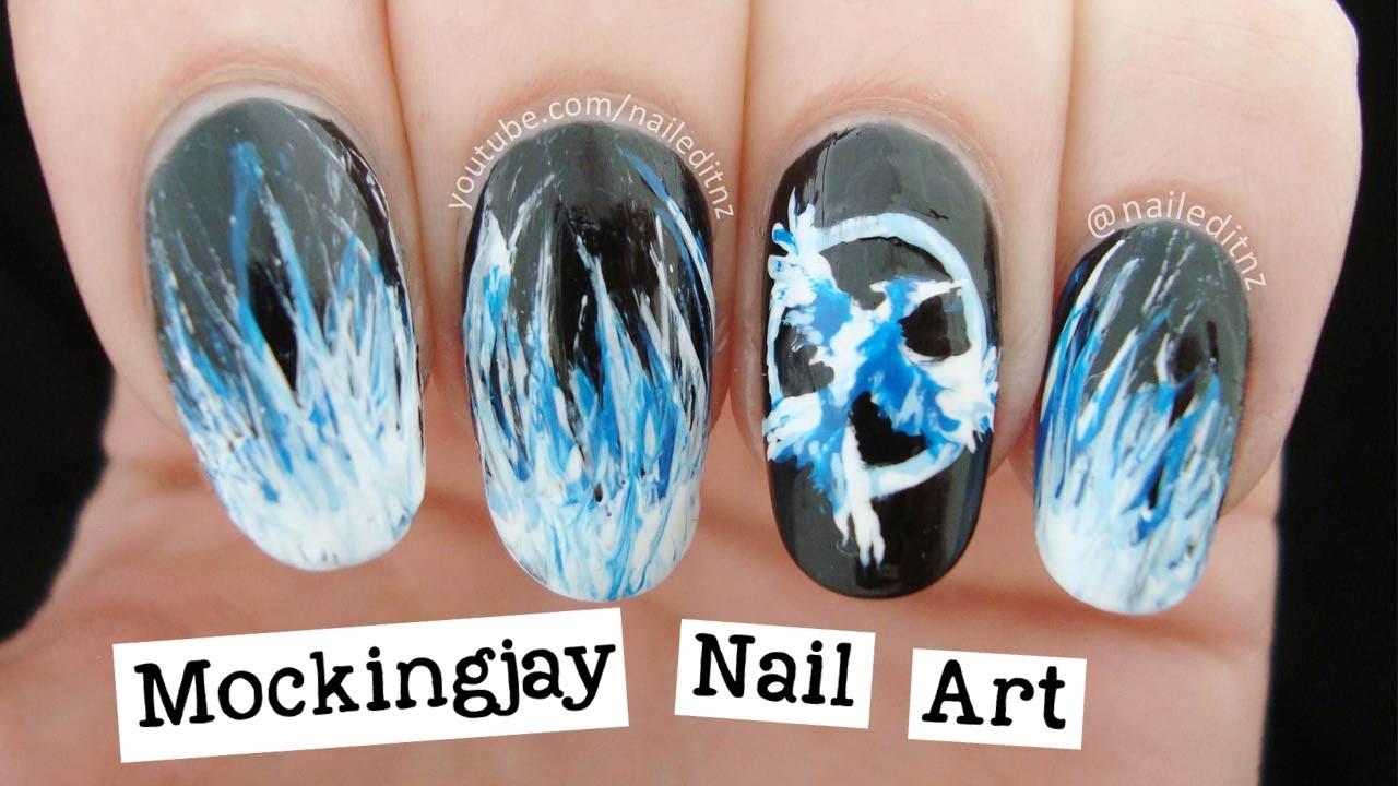 Mockingjay Nail Art | The Hunger Games - YouTube