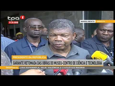 PR João Lourenço fala a imprensa depois da visita de campo em Luanda