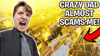 Crazy Dad Scams Himself! (Scammer Gets Scammed) Fortnite Save The World