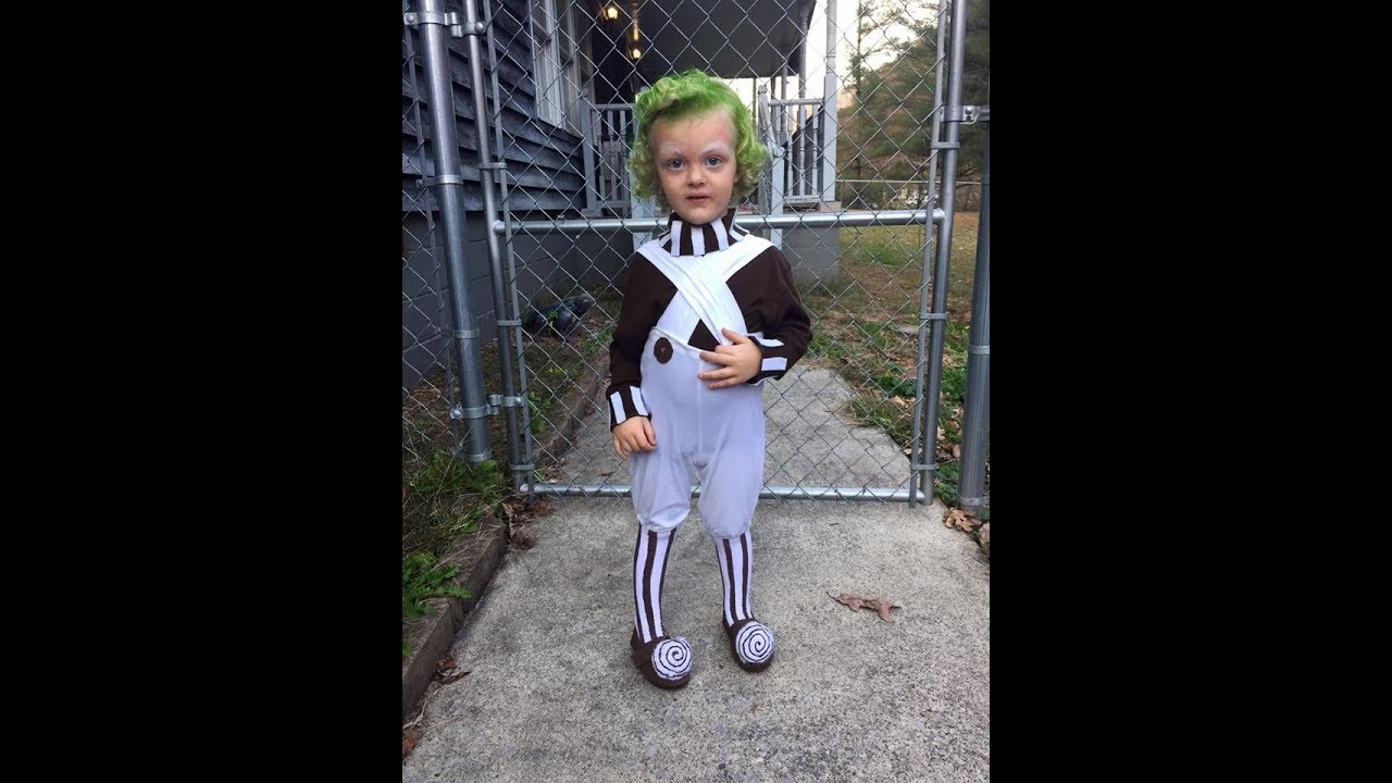 DIY Toddler Oompa Loompa Costume  sc 1 st  YouTube & DIY Toddler Oompa Loompa Costume - YouTube