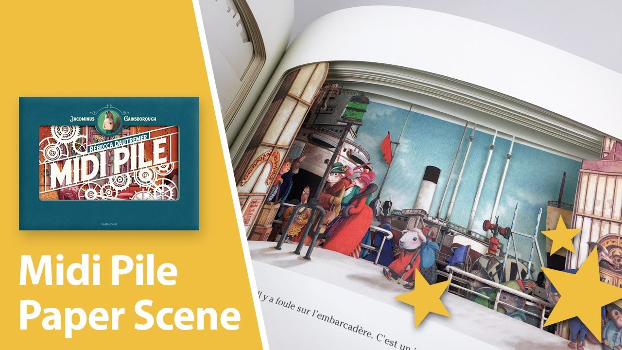 Midi Pile - Scenery Book by Rébecca Dautremer - Stop-Motion Review