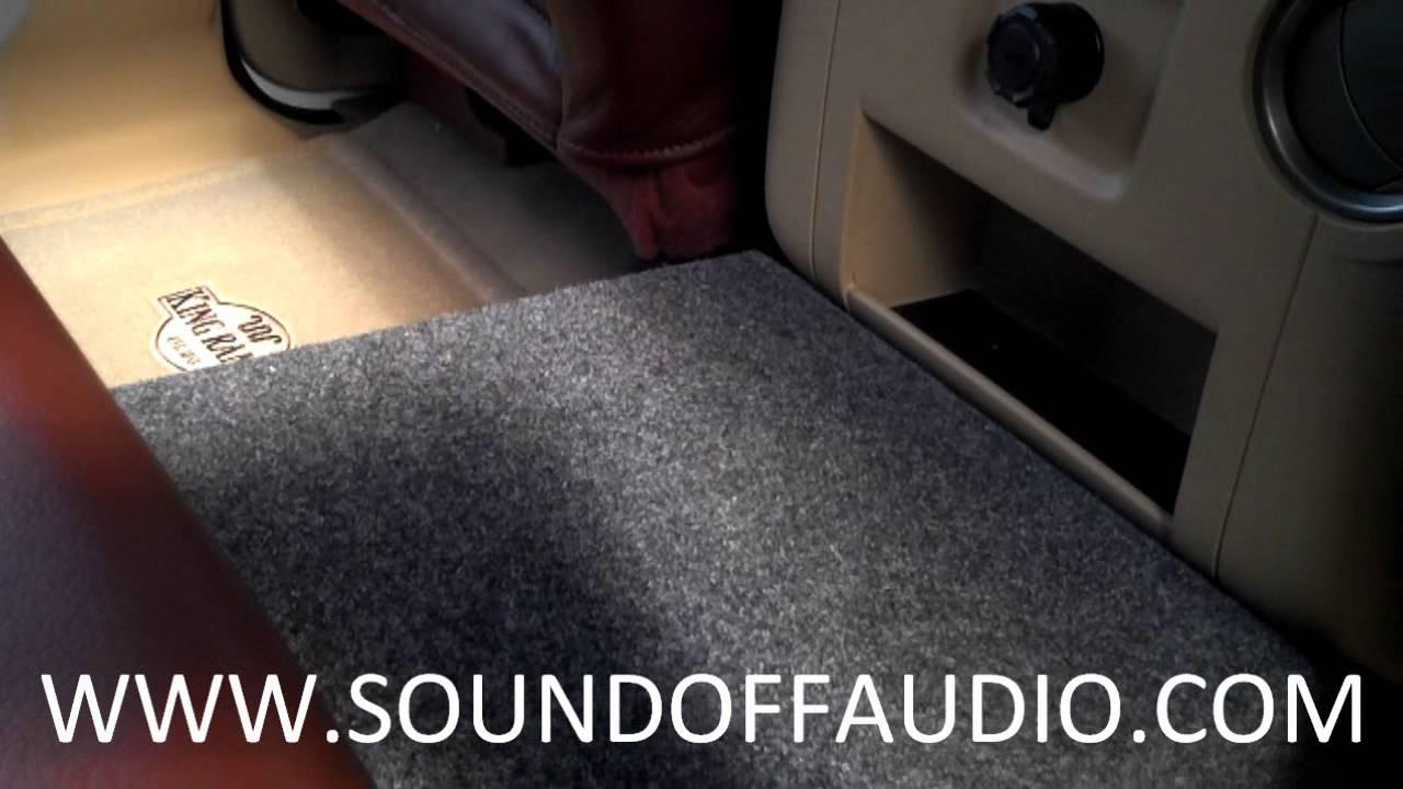 dodge ram under seat sub box