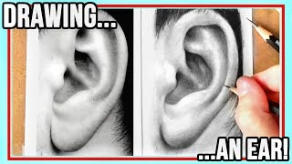 How To Draw An Ear | Realistic step by step drawing tutorial