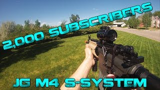2,000 Subscriber Special - JG M4 S-SYSTEM Airsoft Gameplay/Review