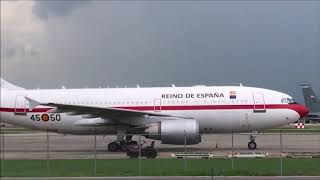 King and Queen of Spain and Jeff Session Planes in New Orleans