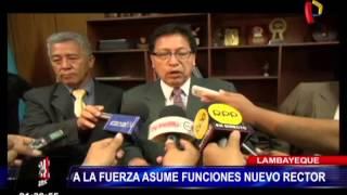 Lambayeque: nuevo rector de universidad Pedro Ruiz Gallo asume funciones a la fuerza